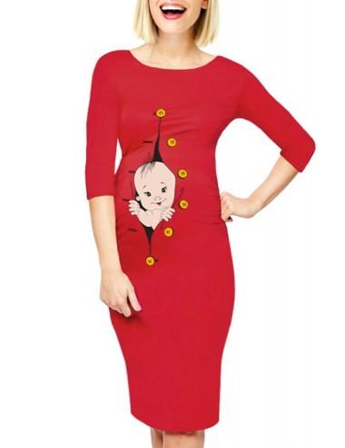 Rochie gravide - BABY - Rosu
