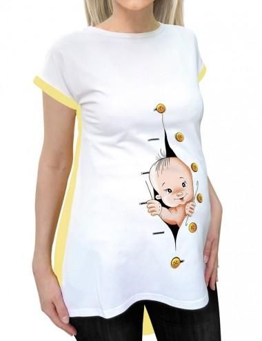 Bluza vara gravide - Bebe Clopotel Galben