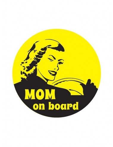Stickere auto - Mom on Board