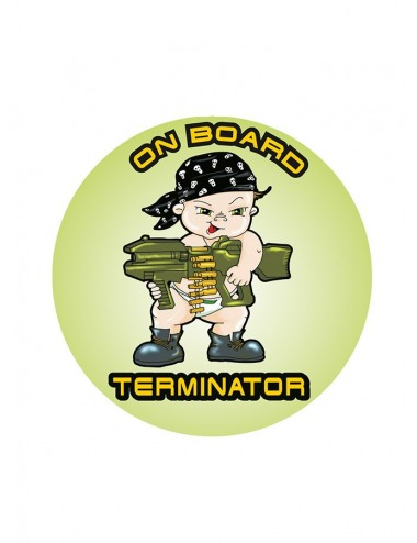 Stickere auto - Terminator on Board