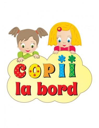 Sticker auto - Copii la bord - fetite