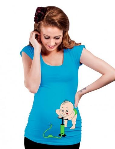 Bluza vara gravide - Bebe Pumpin' - BLUE