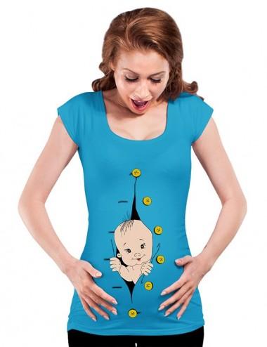 Bluza vara gravide - Hello Baby - BLUE