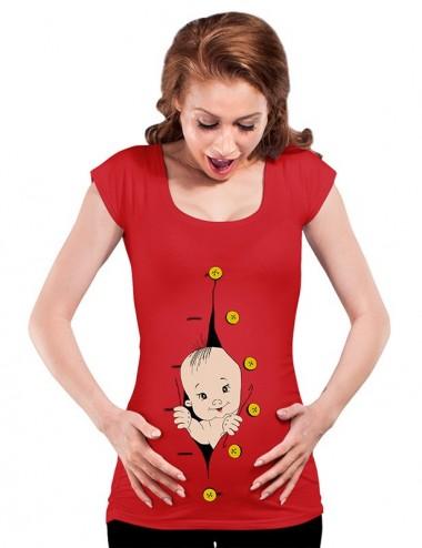 Bluza vara gravide - Hello Baby - ROSU