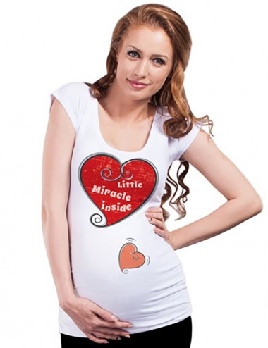 Bluza vara gravide - Inimioare