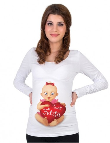 Bluza gravide - Sunt Fetita