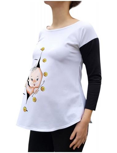 Bluza gravide toamna Bicolor